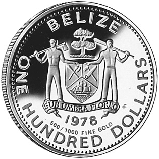 1978 BELIZE 100 Dollars obverse
