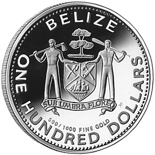 1980 BELIZE 100 Dollars obverse