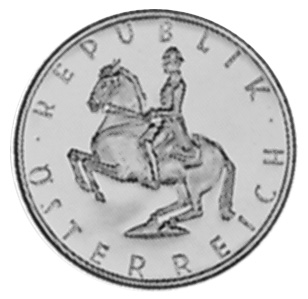 1960-1968 Austria 5 Schilling obverse