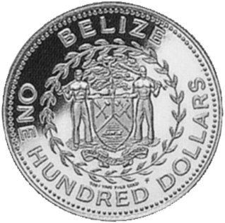 1984 Belize 100 Dollars obverse