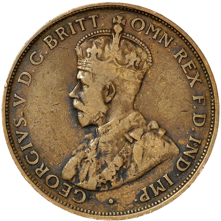 1911-1936 Australia Penny obverse