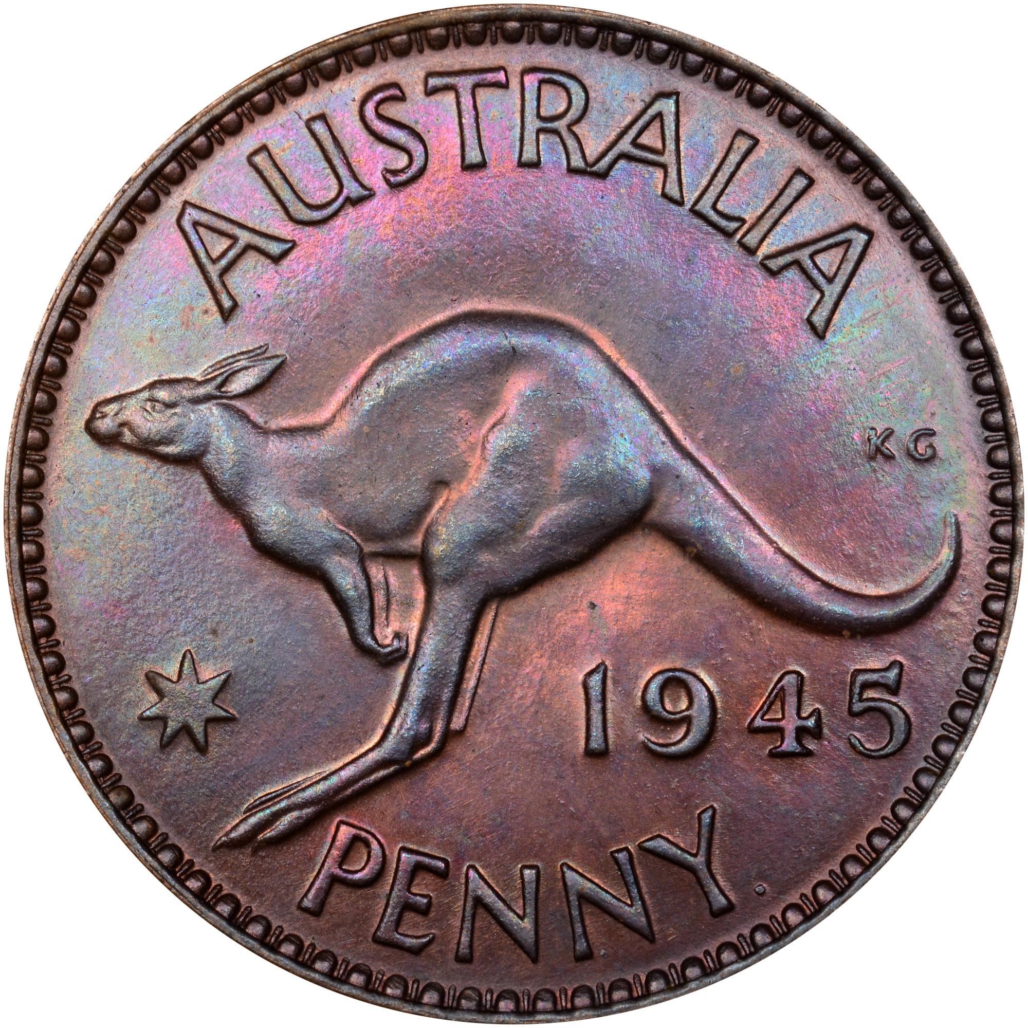 1938-1948 Australia Penny reverse