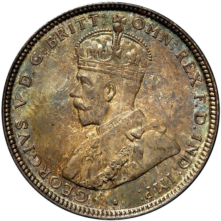 1911-1936 Australia Shilling obverse
