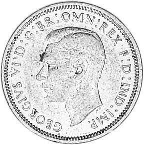 1938-1944 Australia Shilling obverse