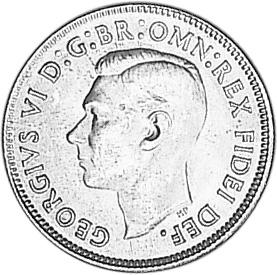 1950-1952 Australia Shilling obverse