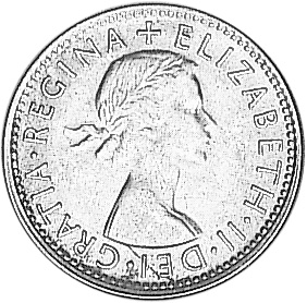 1953-1954 Australia Shilling obverse