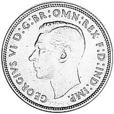 1938-1945 Australia Florin obverse