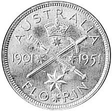 1951 Australia Florin reverse