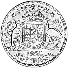 1951-1952 Australia Florin reverse