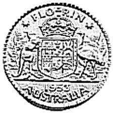 1953-1954 Australia Florin reverse