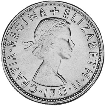 1953-1954 Australia Florin obverse