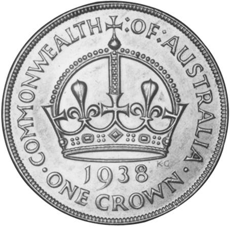 1937-1938 Australia Crown reverse