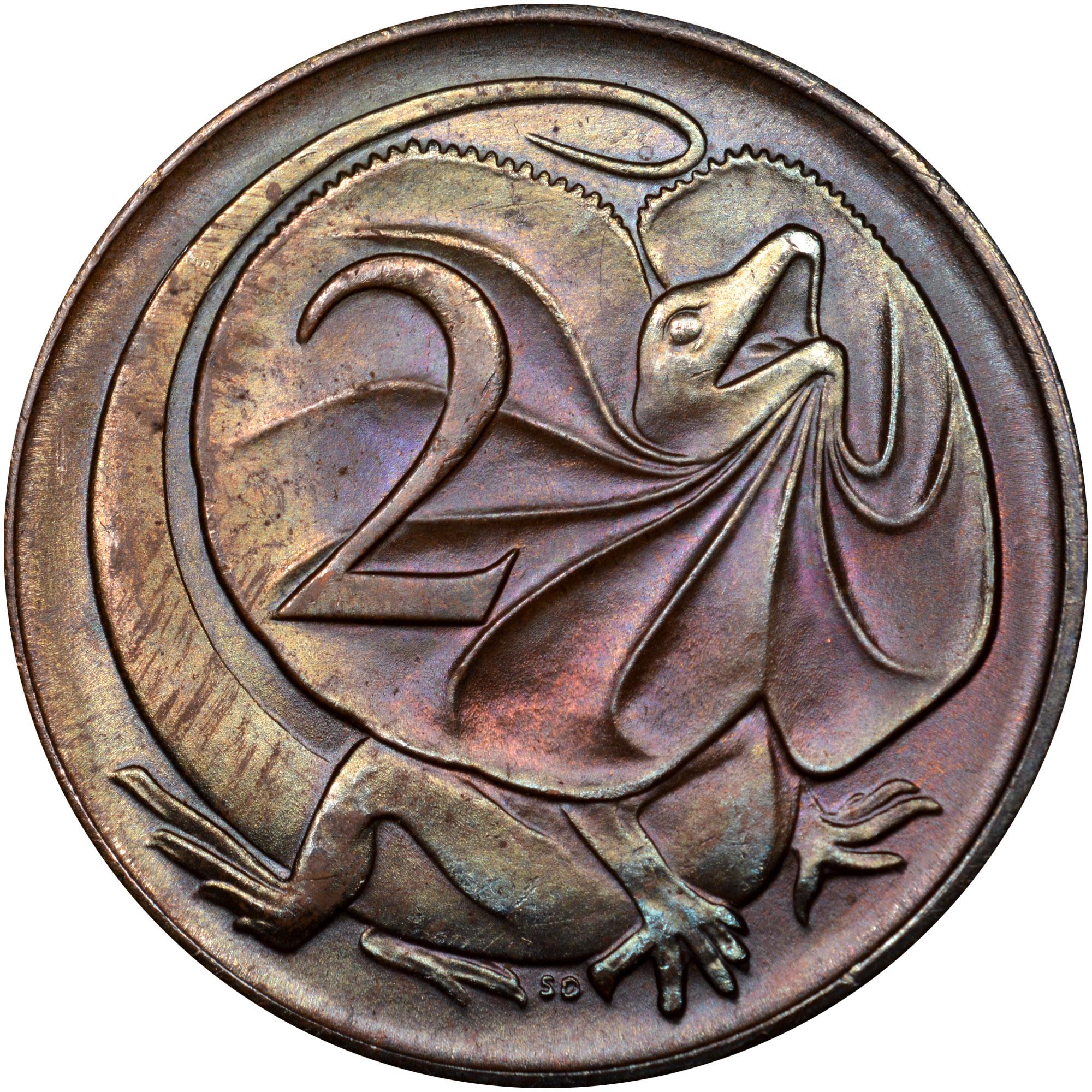 1966-1984 Australia 2 Cents reverse