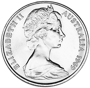 1966-1984 Australia 20 Cents obverse