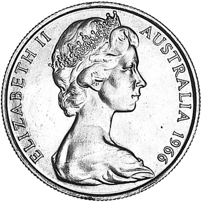 1966 Australia 50 Cents obverse