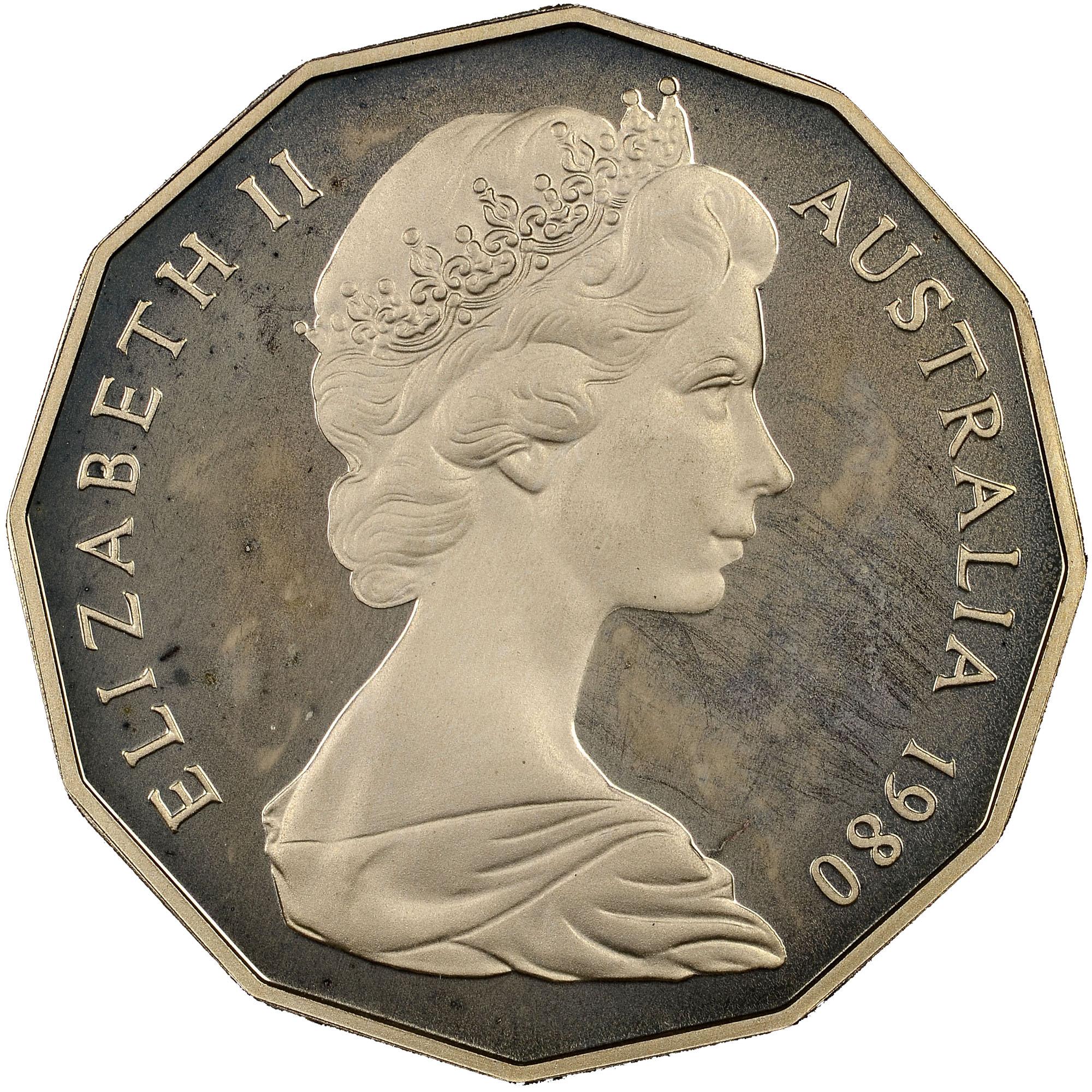 1969-1984 Australia 50 Cents obverse