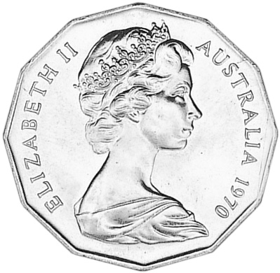 1970 Australia 50 Cents obverse