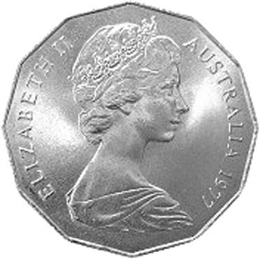 1977 Australia 50 Cents obverse