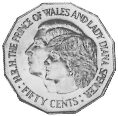 1981 Australia 50 Cents reverse