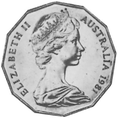 1981 Australia 50 Cents obverse