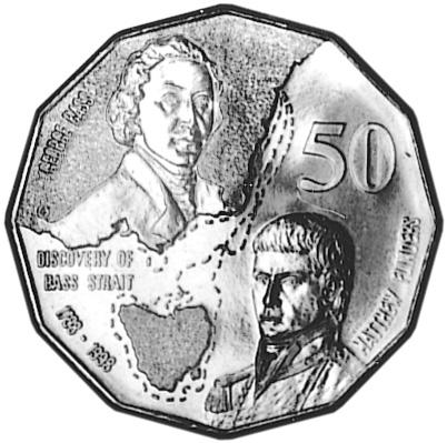 1998 Australia 50 Cents reverse