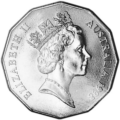 1998 Australia 50 Cents obverse