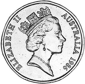 1986 Australia Dollar obverse