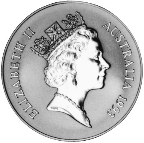 1993 Australia Dollar obverse