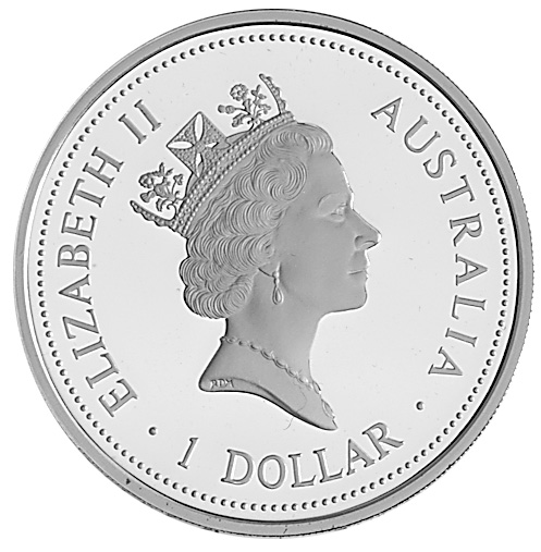 1994-1995 Australia Dollar obverse