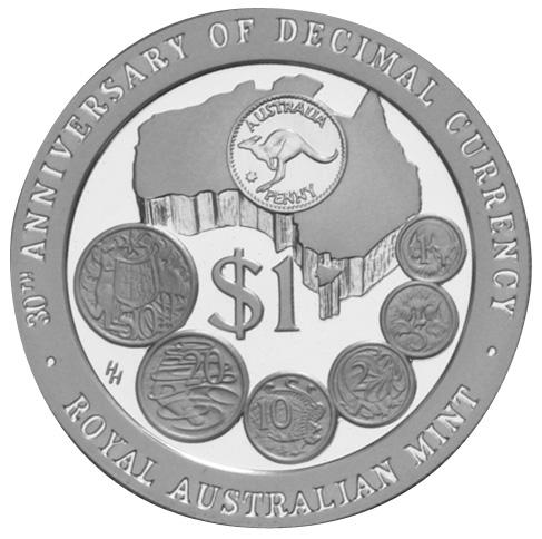 1996 Australia Dollar reverse