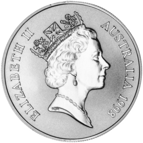 1998 Australia Dollar obverse