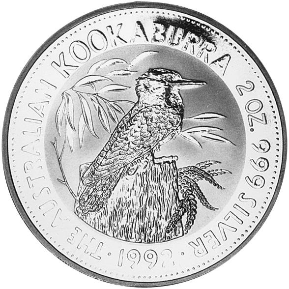 1992-1993 Australia 2 Dollars reverse
