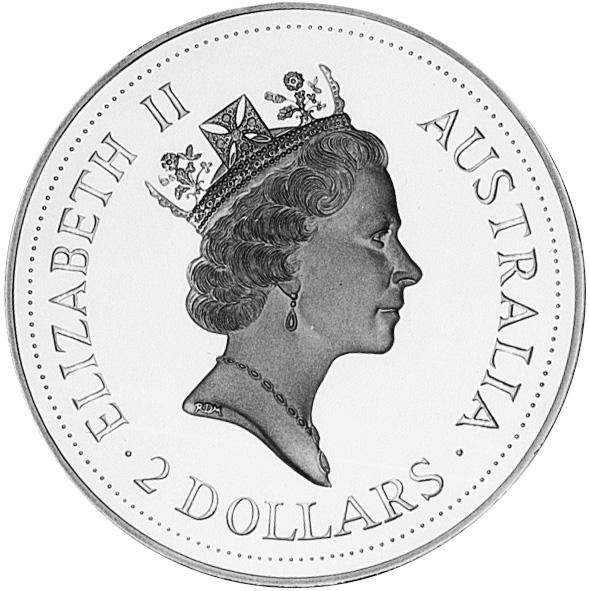 1992-1993 Australia 2 Dollars obverse