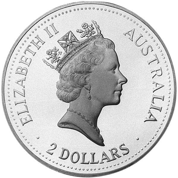 1993-1994 Australia 2 Dollars obverse