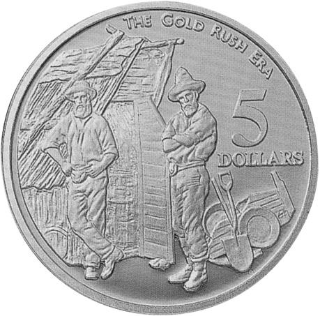 1995 Australia 5 Dollars reverse