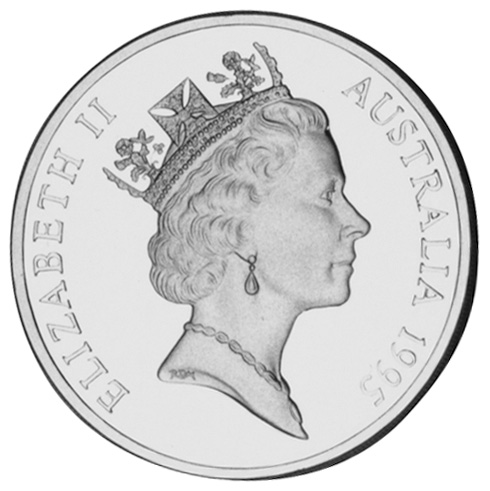 1995 Australia 5 Dollars obverse