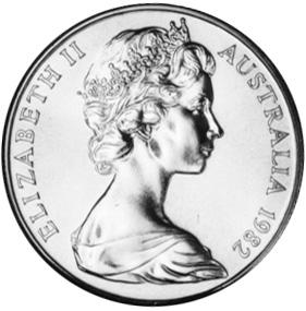 1982 Australia 10 Dollars obverse