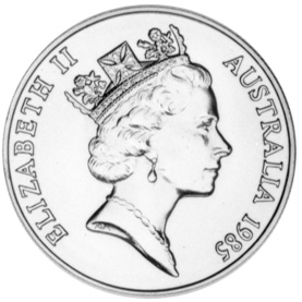 1985 Australia 10 Dollars obverse