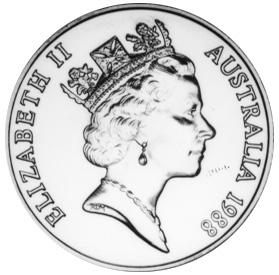 1988 Australia 10 Dollars obverse