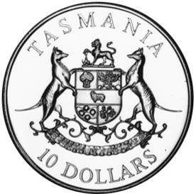 1991 Australia 10 Dollars reverse