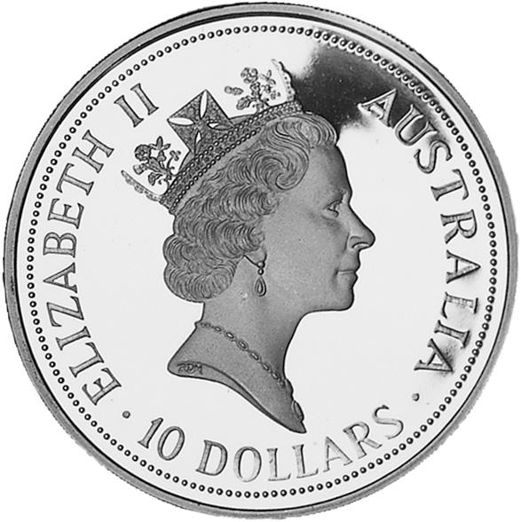 1991-1993 Australia 10 Dollars obverse