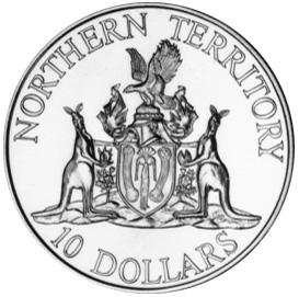 1992 Australia 10 Dollars reverse