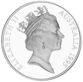 1995 Australia 10 Dollars obverse