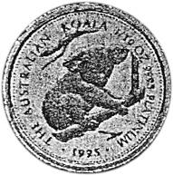1995-1996 Australia 15 Dollars reverse