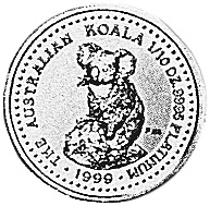 1999 Australia 15 Dollars reverse