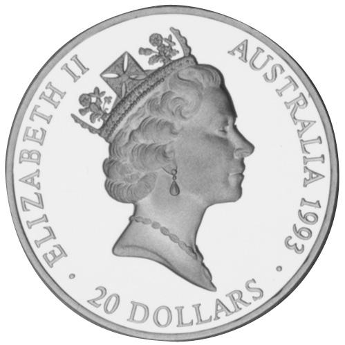 1993 Australia 20 Dollars obverse