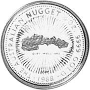 1988 Australia 25 Dollars reverse