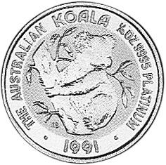 1990-1991 Australia 25 Dollars reverse
