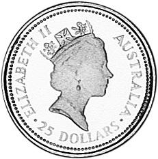 1992 Australia 25 Dollars obverse