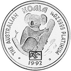 1992-1993 Australia 25 Dollars reverse